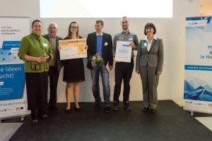 "Preisträger ""OrganiX"". Dr. Merle Fuchs, Prof. Dr.-Ing. Werner Bornkessel, Nancy Blaurock"