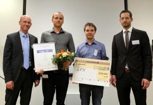 (v.l.n.r.) Dr. Sven Gunther, Florian Krippendorf, Constantin Csato, Daniel Schneider