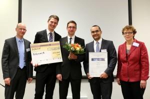 (v.l.n.r.) Dr. Sven Günther, Lorenz Stürzebecher, Max Tarantik, Dr. Frank Fuchs
