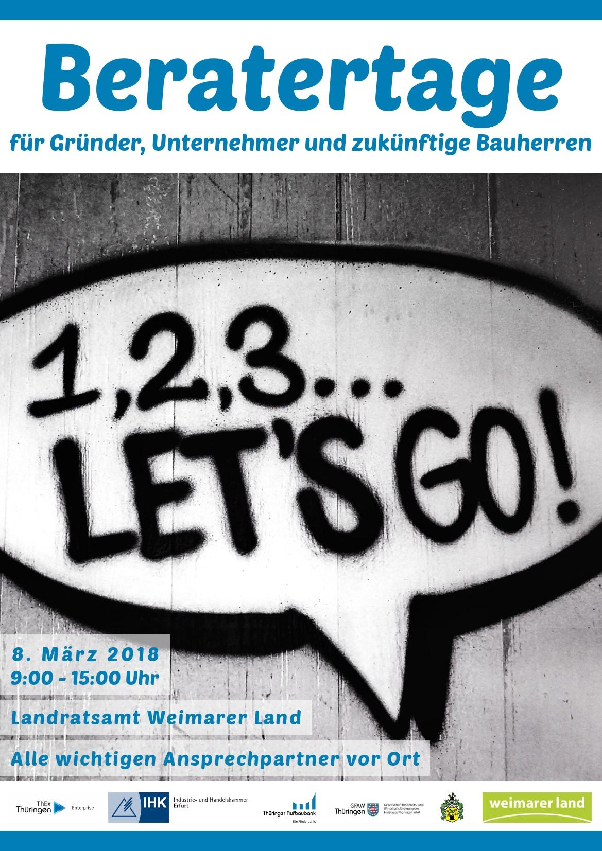 Beratungstag für Gründer, Unternehmer und zukünftige Bauherren im Landratsamt Weimarer Land