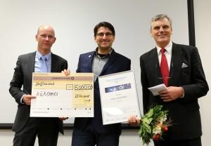 (v.l.n.r.) Dr. Sven Guenther, Marco Jaeger, Ronald Jost
