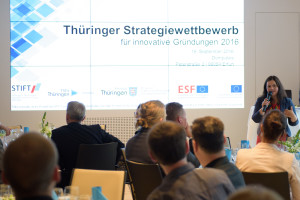 19.09.16: Prämierung im Thüringer Strategiewettbewerb im Dompalais Erfurt. Foto: Candy Welz