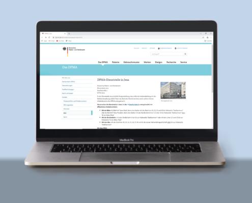 Laptop_DPMA_Startseite